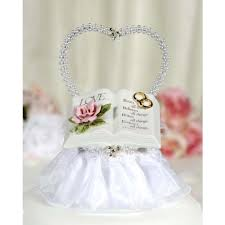christian wedding cake toppers verse bible cake topper with pearl heart wedding cake topppers