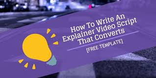 how to write an explainer video script that converts free template