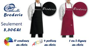 broderie cuisine tablier cuisine personnalisé tablier brodé broderie manelli