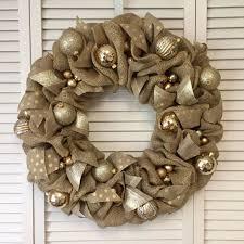 burlap christmas wreath gold christmas wreath burlap christmas wreath polka dot wreath