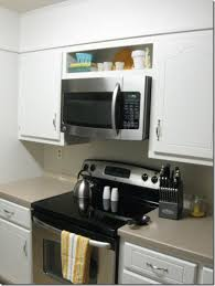how to install over the range microwave without a cabinet over the stove microwave shelf spectacular 35 above range home