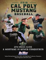 2016 cal poly baseball media guide by cal poly athletics issuu