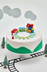 train themed diy fondant birthday cake decorating kit cakest