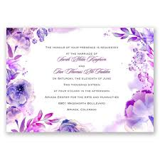 purple wedding invitations watercolor invitation invitations by