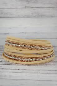 magnetic gold bracelet images Cream rose gold and rhinestone wrap magnetic bracelet ewam png