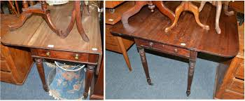 Mahogany Drop Leaf Table Tennants Auctioneers Victorian Mahogany Drop Leaf Table And A