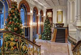 christmas trees at luxury hotels around the world pursuitist