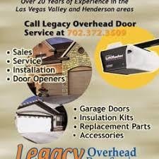 Legacy Overhead Door Legacy Overhead Door Service Garage Door Services 962 Verdite