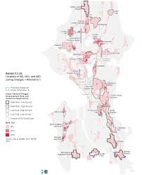 City Of Seattle Zoning Map by Understanding The Mha Draft Environmental Impact Statement