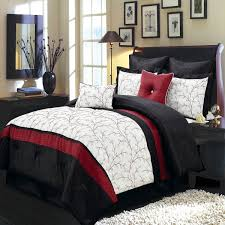 red black white comforter queen size bed sets red and white