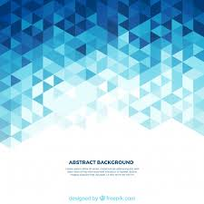 background of white and blue triangles vector free