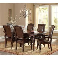 steve silver antoinette 7 piece dining table set cherry