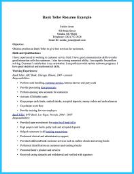 Bank Teller Skills For Resume Sample Resume For Bank Teller At Entry Level Free Resume Example
