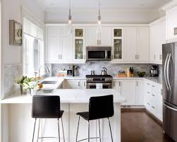 Small Kitchen With White Cabinets Endearing Small Kitchen With White Cabinets Small White Kitchen