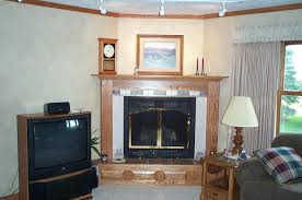 traditional design simple decoration ideas for corner fireplaces