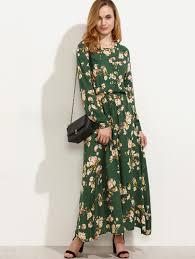 maxi dresses with sleeves shein fashion online shop de shein sheinside online sale
