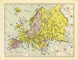 Chinese Map Chinese Map Of Europe 1906 3560 X 2744 Mapporn