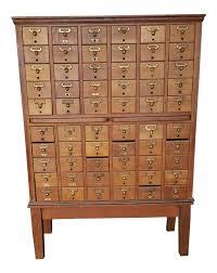 vintage quartered oak gaylord bros inc 60 drawer library index