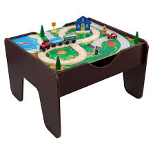 kidkraft espresso 2 in 1 activity table with board playset 17577