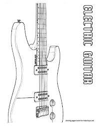 classic electric guitar coloring print