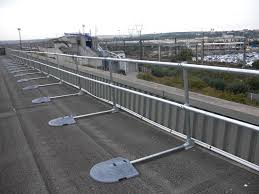 Temporary Handrail Systems Roof Railing System For Roof Fall Protection Osha Compliant Roof