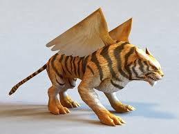 winged tiger 3d model object files free modeling