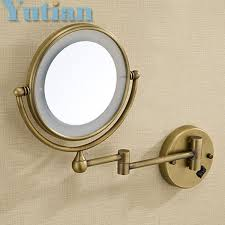 round makeup mirror with lights antique brass led light makeup mirrors 8 round dual sides 3x 1x
