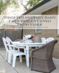 Indoor Outdoor Furniture Ideas 12th And White Thrifted Pottery Barn Table How To Turn Indoor