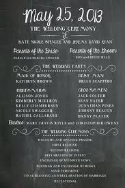 chalkboard wedding program americachinasociety info