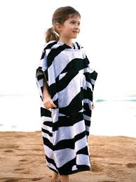 Toddler Terry Cloth Robe Terry Rich Australia Towelling Surf Poncho U0026 Changing Robe Zebra