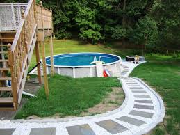 above ground pool decks for small yards installing above ground