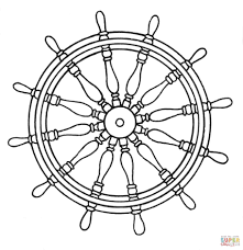 ship u0027s wheel coloring page free printable coloring pages