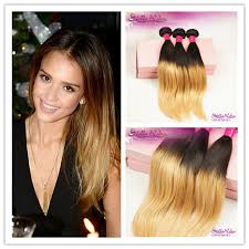 honey weave 6a hair ombre hair extension colored 1b