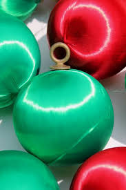 satin sheen balls tree ornaments green