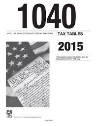 Irs Tax Tables 2015 Irs 1040 Tax Table Form Pdffiller
