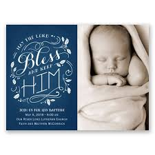 Invitation Cards For Christening Bless Him Petite Baptism Invitation Invitations By Dawn