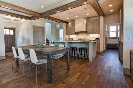 wood floor ideas for kitchens hardwood flooring in the kitchen pros and cons coswick