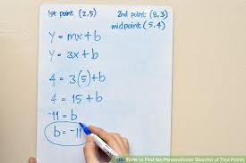 image titled find the perpendicular bisector of two points step 7
