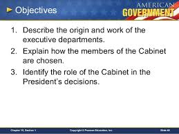 Role Of Cabinet Members Chapter 15