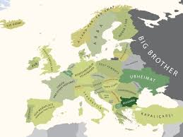 Europe Mountains Map by Europe Stereotypically Uncut Zero Hedge