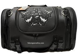 Durable pvc skull sissy bar travel bag travel luggage
