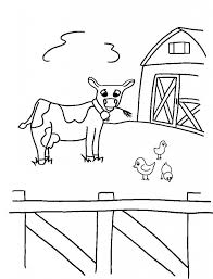 free printable farm animal coloring pages for kids colouring