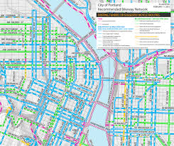 Portland Map by The Portland Bicycle Plan For 2030 Portland Pedal Power