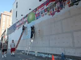 bowery graffiti wall scraped clean of ron english mural painting bowery graffiti wall scraped clean of ron english mural painting begins tomorrow bowery boogie