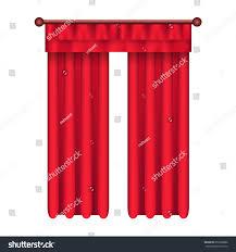 heavy straight drapes red fabric lambrequin stock vector 659568886