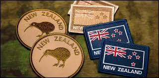 Military Flag Patch Velcro Kiwi Nz Flags