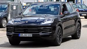 2018 porsche cayenne new spy shots motor1 com photos