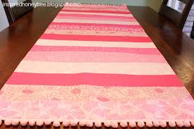 valentine s day table runner inspired honey bee sew bright striped valentine s day table runner