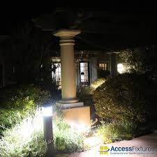120v Landscape Lighting Fixtures by Medium Socket Round Dome Top Bollards With Louvers 120v
