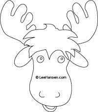 moose template 17 best moose masquerade mask images on masquerade